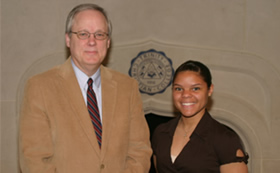 President Timmermans and Andrea Walters