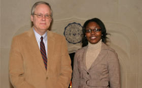 President Timmermans and Erica-Symone Windham
