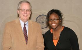 President Timmermans and Rochelle Burks