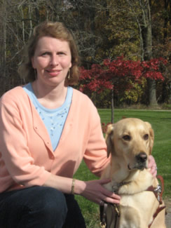 Kathy Nimmer and her dog