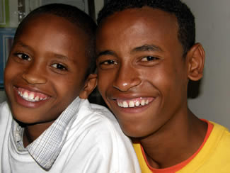 Fekadu, 12, and Getenet, 16, originally of Ethiopia, were recently adopted by President Steve and Dr. Barbara Timmermans.