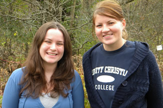 Seniors Bethany (Kerr) Eizenga and Monica Brands shared their papers at the Streamlines regional conference.