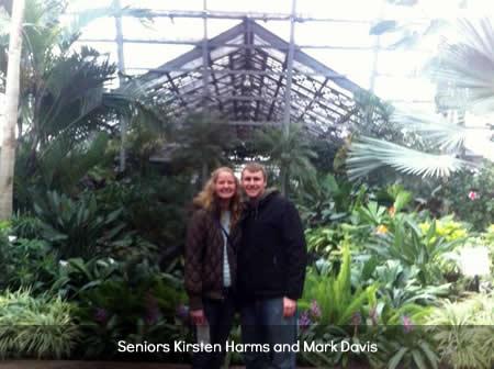 Seniors K. Harms and M. Davis