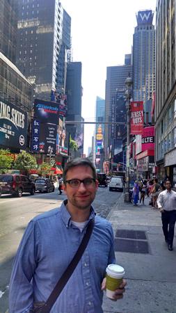 John at Times Square