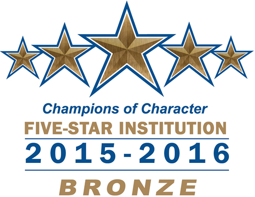 Champions of Character 5-Star Institutation Award for Trinity Christian College