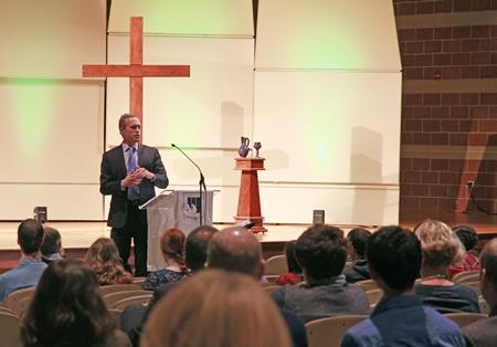 Pres. Dykstra speaks at chapel on 01/13