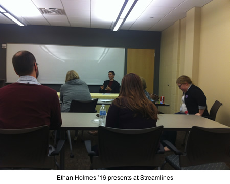 Ethan Holmes '16 presents at Streamlines