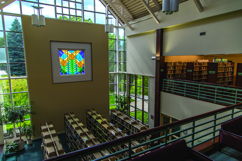 Library - Interior - Stained Glass Window
