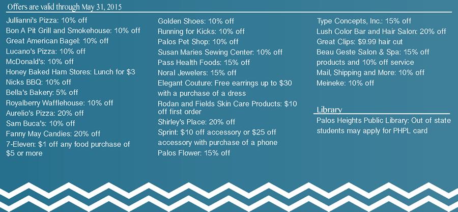 Discounts through May 2015