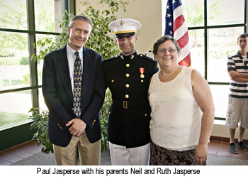 Paul Jasperse with his parents Neil and Ruth Jasperse