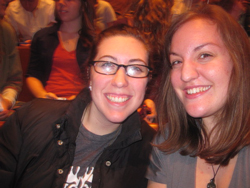 My roommate Rachel & I at the historic Ryman Auditorium to see Ben Rector & Needtobreathe.