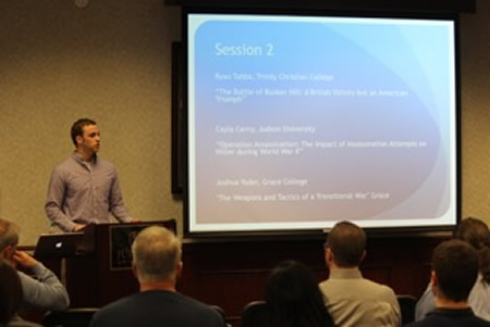 Ryan Tubbs presents at History Conference