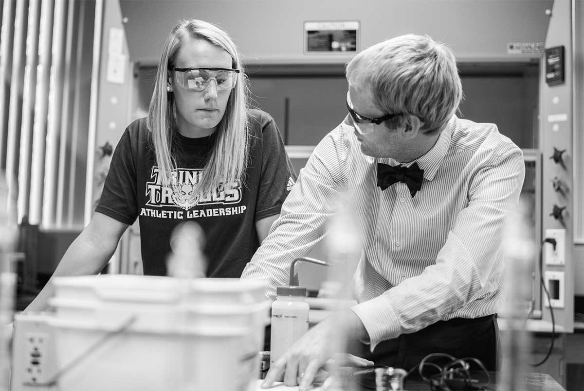 Trinity Biology Education Degree black and white