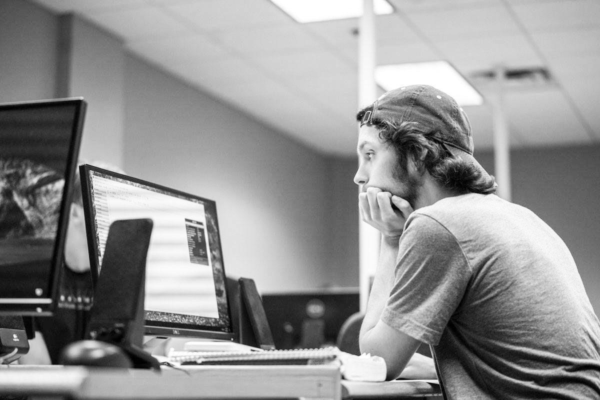 computing major black and white
