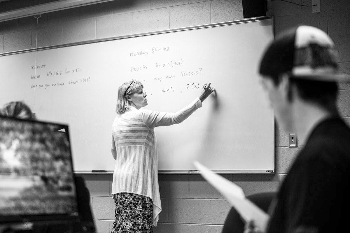 mathematics education minor black and white