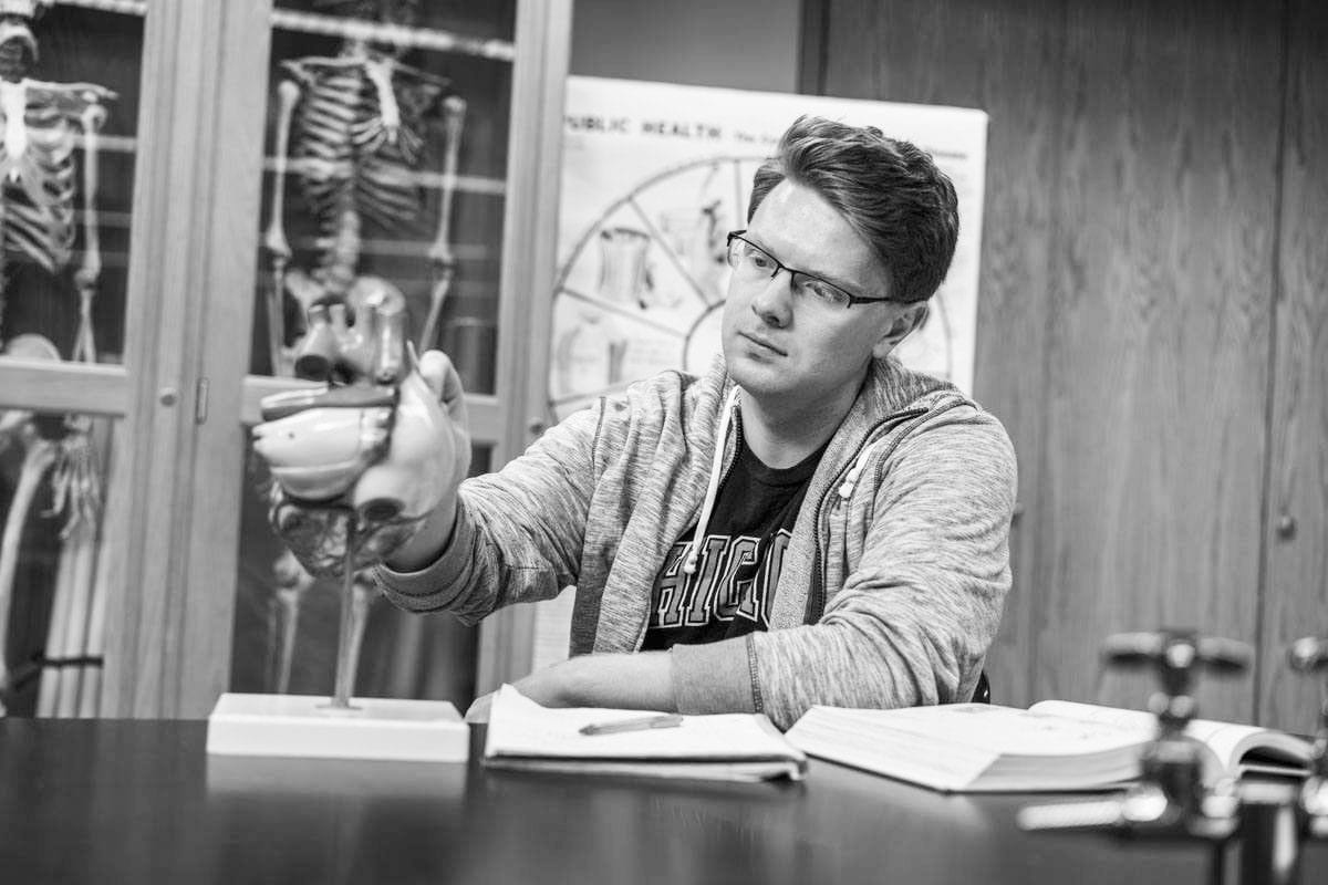 pre med black and white