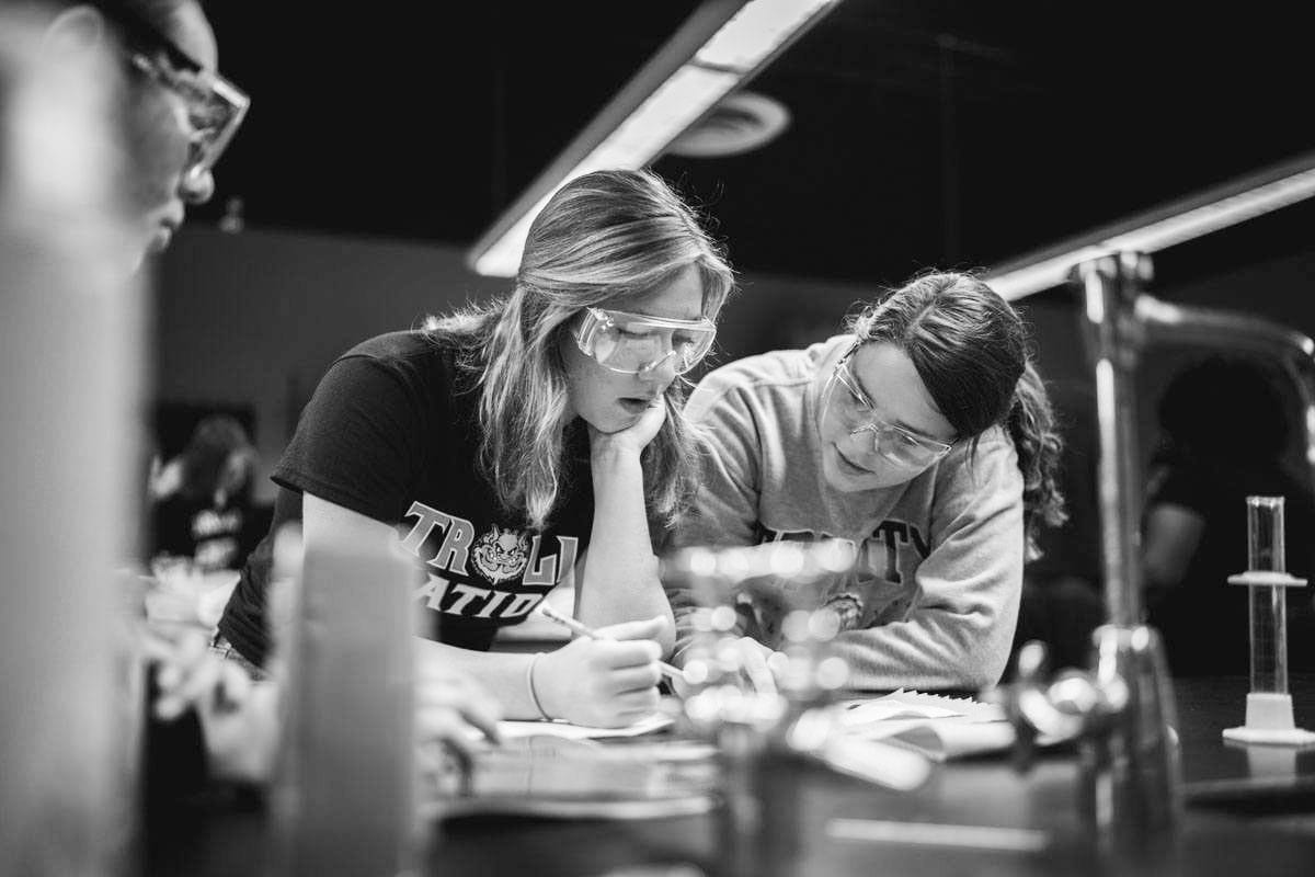 science education black and white