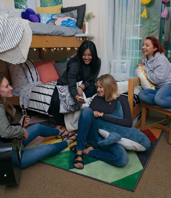 students first week hanging out in a dorm