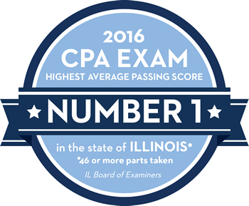 2016-2017 Annual Review CPA Exam emblem
