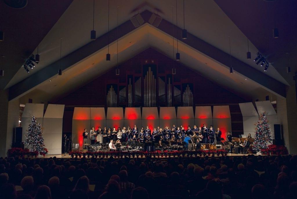 christmastide choir music hall