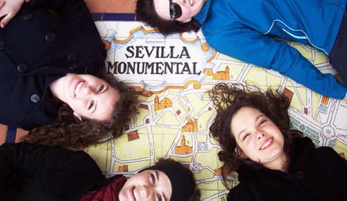 Off Campus students on spain map
