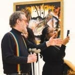 Dr. Baker with students at the Art Institute in Chicago