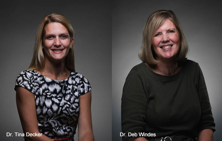 Dr. Tina Decker (l) and Dr. Deb Windes (r)