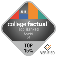College Factual Top 15% ranking in Special Ed