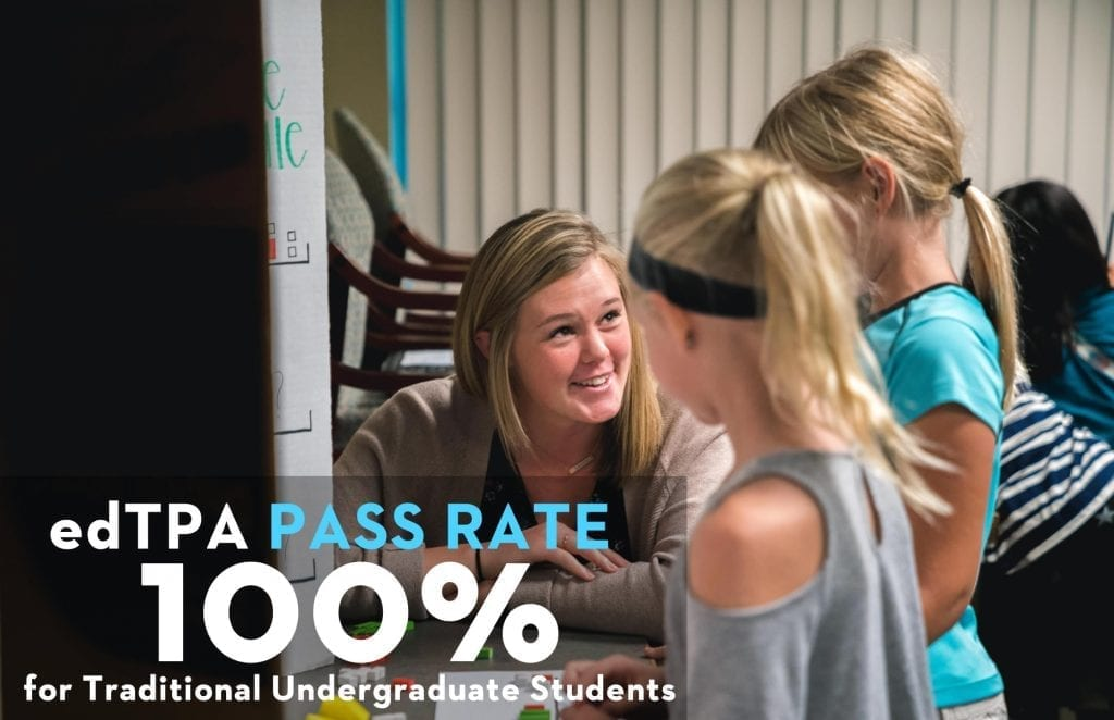 ed TPA 100% pass rate for traditional undergrads