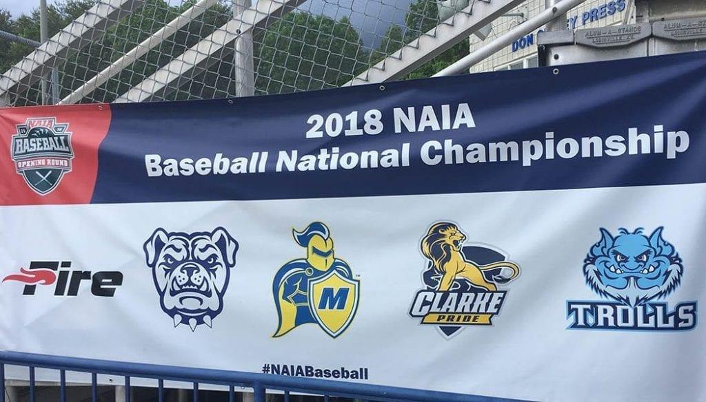 NAIA Baseball Banner with Trinity Trolls