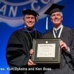 Pres. Kurt Dykstra and honoree Ken Boss