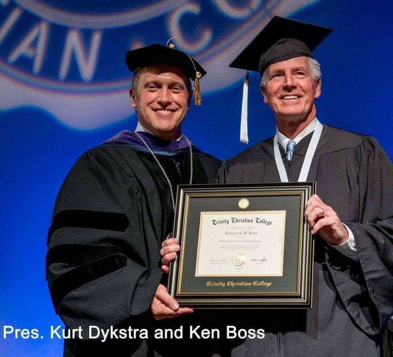 Pres. Kurt Dykstra and honoree Ken Boss