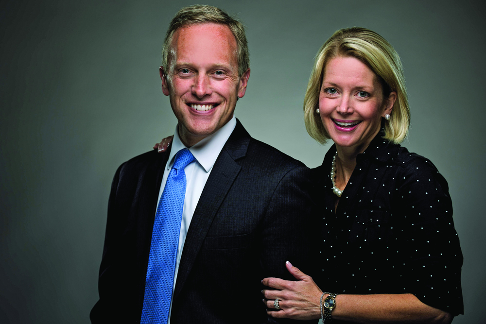 President Dykstra and wife
