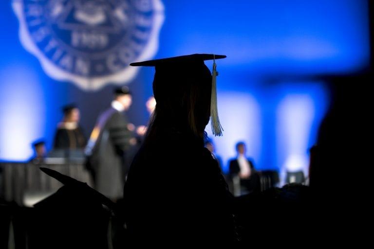 Silouhette of Graduate at Commencement - Graduation Information