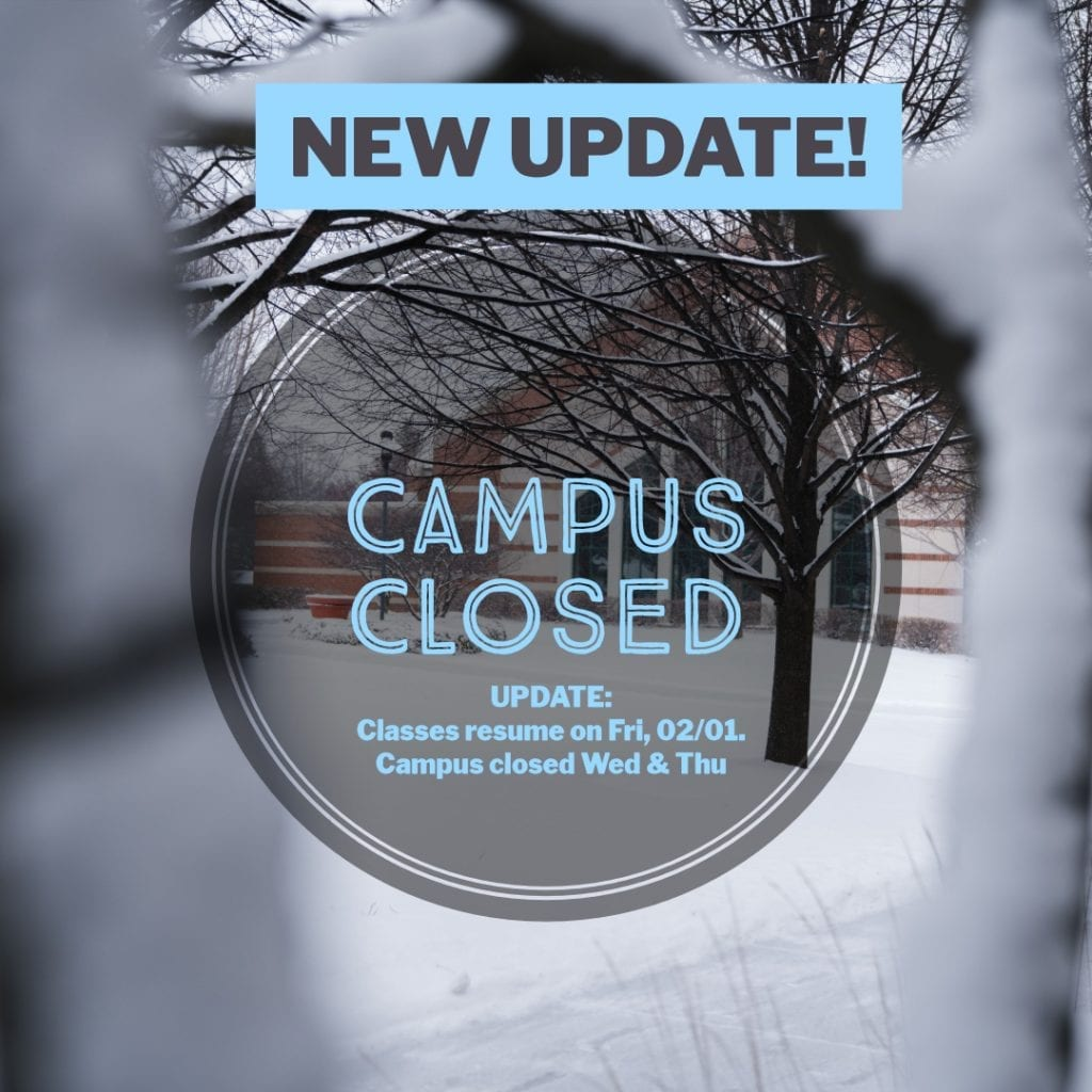 Campus closed until Feb 1