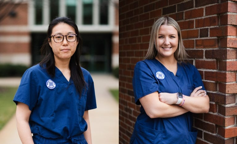 Nursing Students Jamie Park and Anna Smagacz