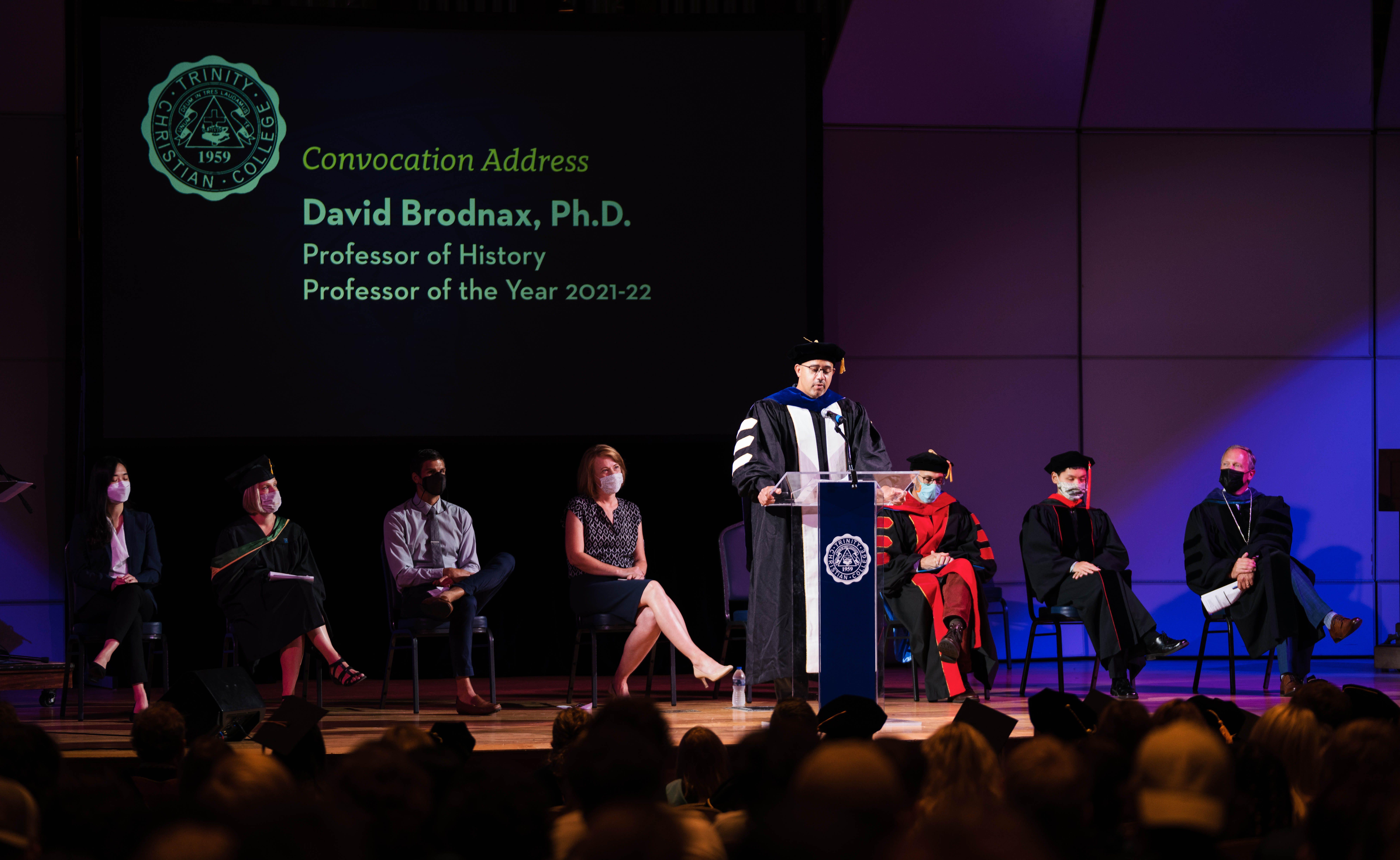 Professor of the year David Brodnax
