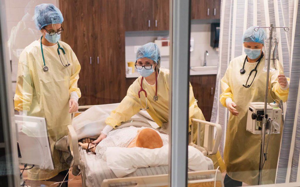 Nursing Lab - student gaining experience